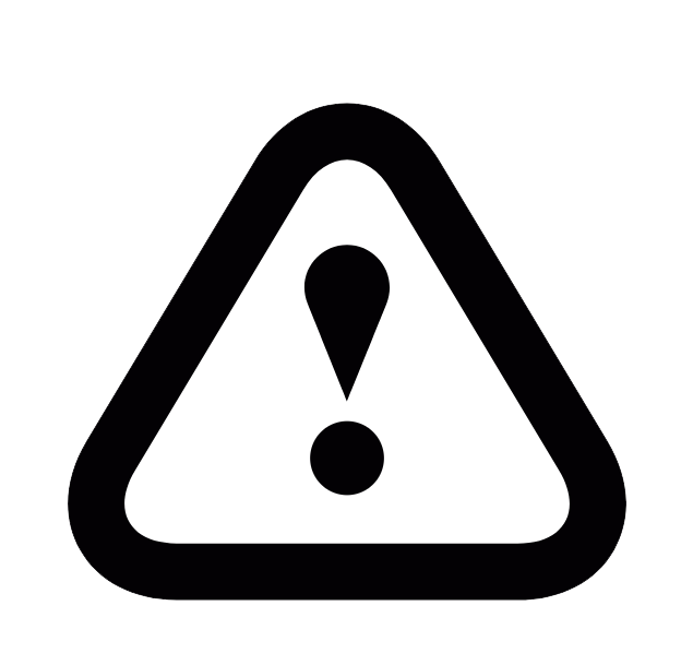 icon warning triangle